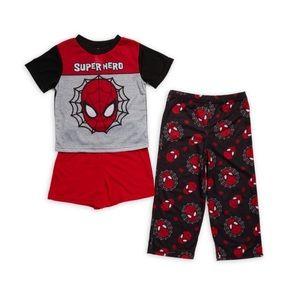 NWT AME Sleepwear Little Boy's Spider-man 3-Pc